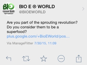Sprouting Revolution Tweet