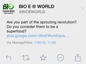 Sprouting Revolution Tweet