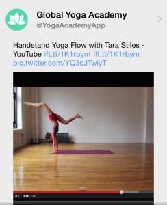 Tweet: Handstand Yoga Flow