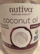 Organic, Extra Virgin, Cold-Pressed Coconut Oil was a free gift from my most recent Thrive Market Order. It is clear in color and smells and tastes very pure.