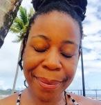 Shida Davis at Manzan Beach Trinidad
